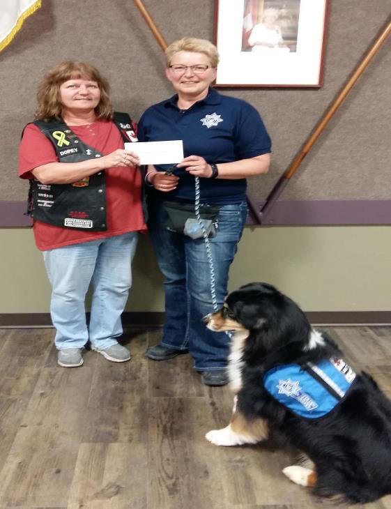 Tri Service donation to Citadel service Dog